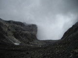 i aquest és el panorama de pujada, entrem al núvol i només hi ha vent i fred!