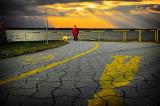 walk at dusk