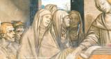 14th century fresco, San Gimignano(detail)