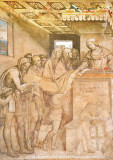 14th century fresco, San Gimignano