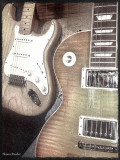My Strat and Les Paul