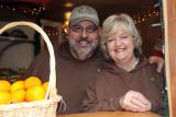 John and Glennda Morse at Morse Farms' little retail cottage