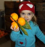 Nikki Rees, 2 (Glennda's granddaughter), shows off the merchandise
