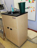 One of Shalom Free Clinics few pieces of equipment, a portable sink