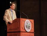 Dr. William Loker, Dean of Undergraduate Studies, introduces Steve Lopez