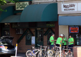 Social Walkers team gets fueled up in front of Duffy's at 9 a.m.