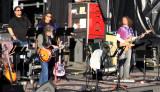 Pre-show soundcheck; Bob Weir, John Kadlecik, as backup vocalists Jeff Pehrson and Sunshine Becker look on