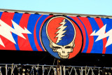 Banner over the stage