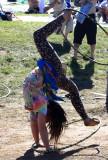 Talented hula-hooper