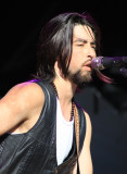 Jackie Greene performs with his band, Furthur stage
