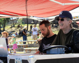 Furthur Festival, May 29-31, 2010, Phil Lesh watches his son Grahame's band, Maiden Lane