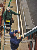 December work on the roof of the Cynwyd Station