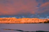 Wellsville Mountains, Wasatch Front (Sun has set)