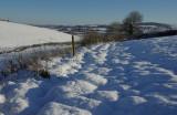 Snowy fields - Devon