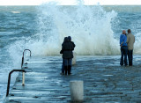 Wave watching - between two bouts of snowfall