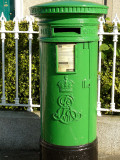 Re-painted postbox in October