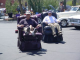 two motorized easy chairs