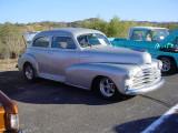 Chevy silver sedan