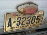 flash A - 32305 Arizonalast license tag 1974
