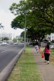 Looking Mauka up Punahou Street.