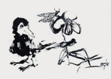 Sumi Brush drawing 1967: N.Rich