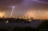 Sydney Habour in summer storm - final edit.