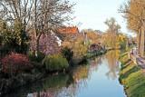 le canal de la Bruche, Aquarelle.