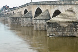 the old bridge over the Loire river (town Gien)
