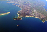 Santander view by plane
