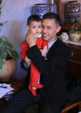 Sophia et son papa.