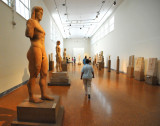 Elegant Hallways with Historical Statuery
