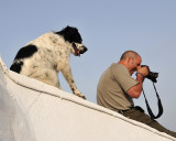 Dog Checking Out my Son's John Photographing
