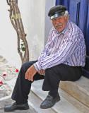 Retired Gentleman on Door Step