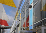 Colorful Sails at Embarkation Building