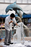 Day at Sea: Ice Carving -- A Sea Horse!