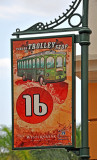 Sign for downtown free trolley
