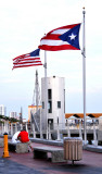 Flags of USA and Puerto Rico