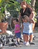 Faces of Puerto Rico —family and many pigeons!