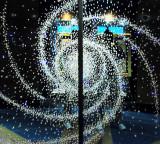 Spiral light display in ship