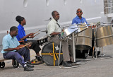 Steel band welcoming passengers back to ship