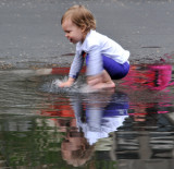 A young boy and water!