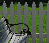 Comfortable Bench and Picket Fence