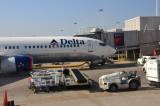 Delta plane arrives in Atlanta from LAX