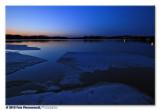 Icy shoreline ...