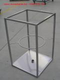 struttura porta anfora per tavolo inox cristallo talamona morbegno inox