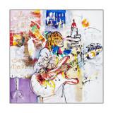 Oeuvre de Camille Caffin exposée dans le cadre de l'exposition Carnet de Voyages