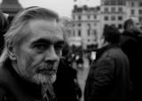 Man with beard: a photographer