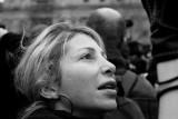 fair haired woman: a photographer