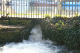 The moat floods