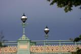 Sentinels under a dark sky.